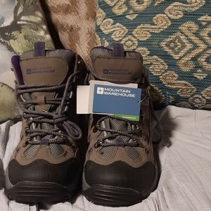 Purple/ Grey Waterpoof Boots NWT